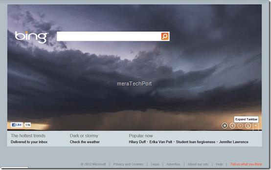 New Bing Taskbar Button